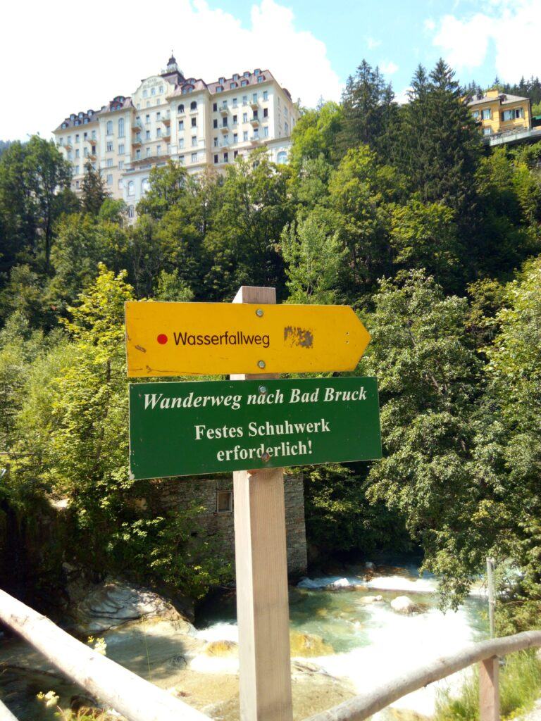 Vodopád Gasteiner Wasserfall Bad Gastein